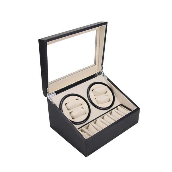送料無料 高級ワインディングマシン ワインディング 腕時計 4本 ウォッチワインダー 赤と黒の2カラー 時計 静音設計 4本巻 自動巻き  ワインディングマシーン|isozaki-store|04