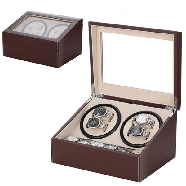 送料無料 高級ワインディングマシン ワインディング 腕時計 4本 ウォッチワインダー 赤と黒の2カラー 時計 静音設計 4本巻 自動巻き  ワインディングマシーン|isozaki-store|09