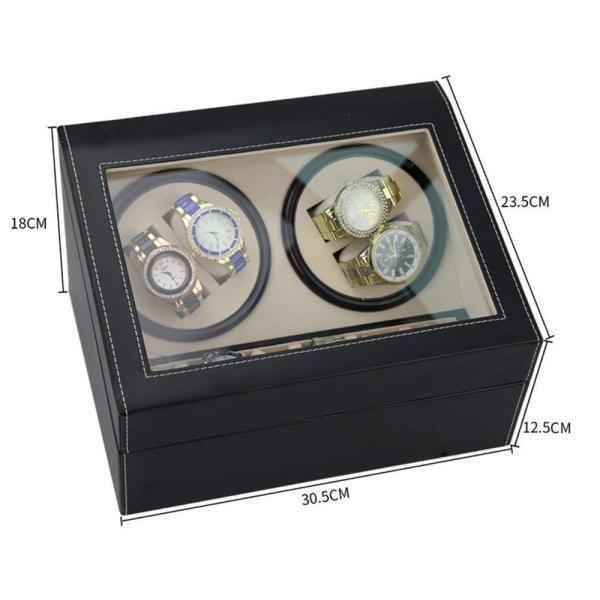 送料無料 高級ワインディングマシン ワインディング 腕時計 4本 ウォッチワインダー 赤と黒の2カラー 時計 静音設計 4本巻 自動巻き  ワインディングマシーン|isozaki-store|10