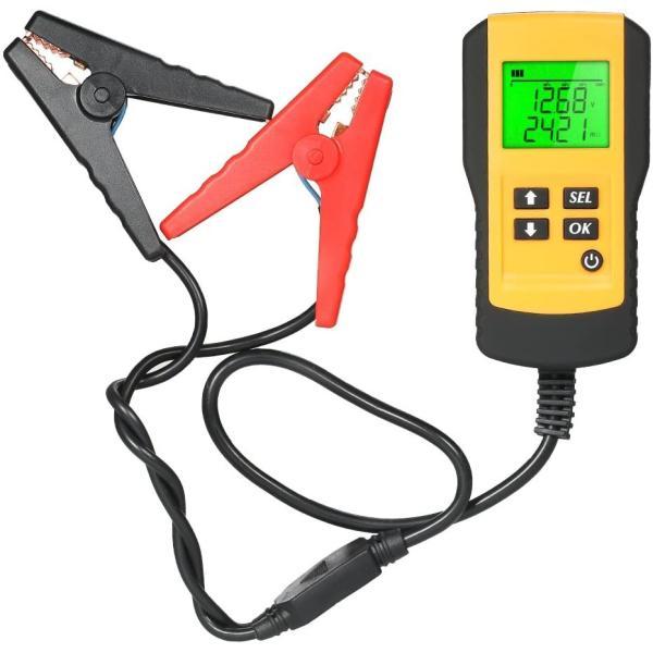 バッテリーテスターバッテリーチェッカーデジタル診断故障車自動車カー用品メンテナンス車用品電圧テスタ12V蓄電池CCA測定