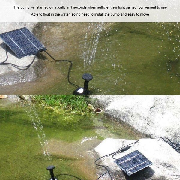 送料590円 ソーラー 噴水  ソーラー 池 ポンプ 庭の噴水用 省エネ 池でも使えるポンプ 太陽光 自動|isozaki-store|02