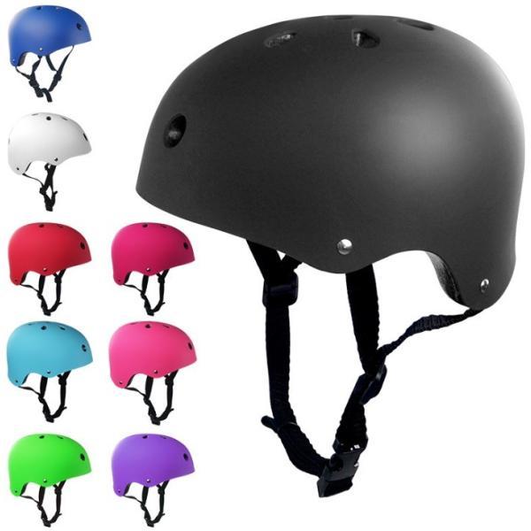 送料無料 ヘルメット 選べるサイズ 子供用 大人用 マット加工 豊富なカラー 軽量 調節可能  自転車 スポーツ キッズ レジャー 子ども用 isozaki-store
