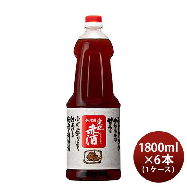 東肥赤酒(料理用)ペット 1.8L 1800ml 6本 1ケース のし・ギフト・サンプル各種対応不可
