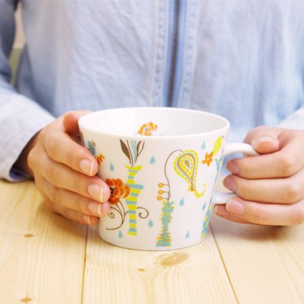 マグカップ 花瓶 日本製 人気 北欧風 360ml 大きい カフェ ユニセックス プチギフト コップ|issoecco|02