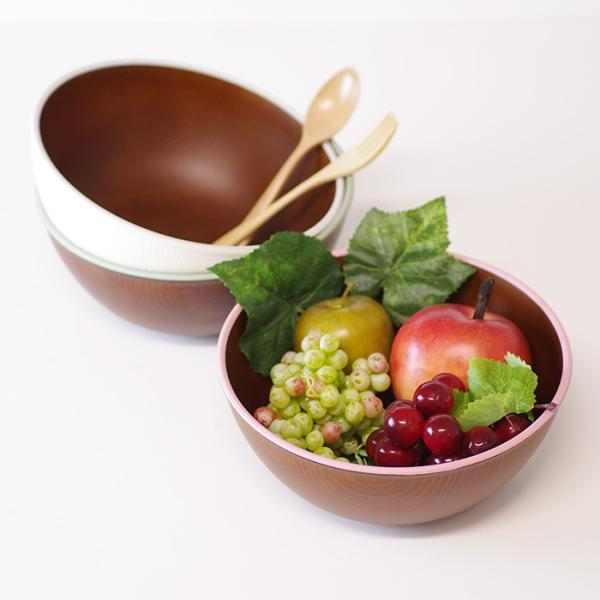 木目ボウル LL 日本製 人気 北欧風 プラスチック 食器 取り皿 テーブルウェア|issoecco|05