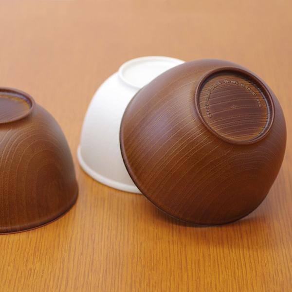 木目ボウル M 日本製 人気 北欧風 プラスチック 食器 取り皿 テーブルウェア|issoecco|03