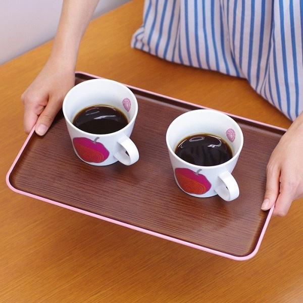 長角トレー 木目トレー 日本製 人気 北欧風 プラスチック 食器 取り皿 テーブルウェア issoecco