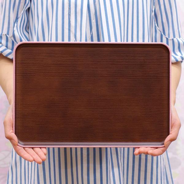 長角トレー 木目トレー 日本製 人気 北欧風 プラスチック 食器 取り皿 テーブルウェア issoecco 04