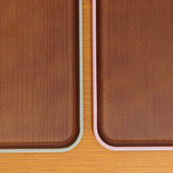 長角トレー 木目トレー 日本製 人気 北欧風 プラスチック 食器 取り皿 テーブルウェア issoecco 05