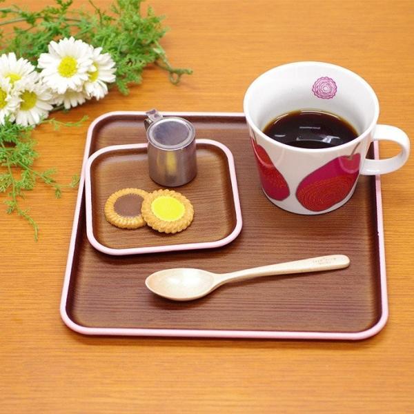正角トレー 木目トレー 日本製 人気 北欧風 プラスチック 食器 取り皿 テーブルウェア issoecco