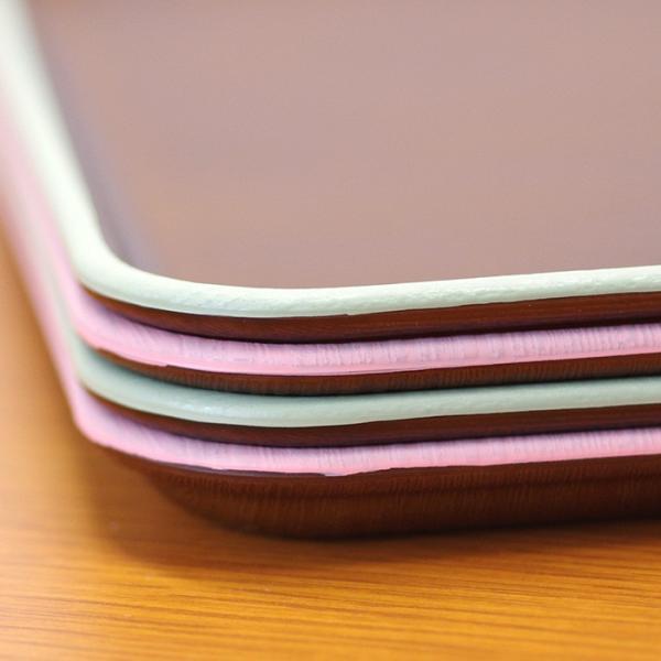 正角トレー 木目トレー 日本製 人気 北欧風 プラスチック 食器 取り皿 テーブルウェア issoecco 03