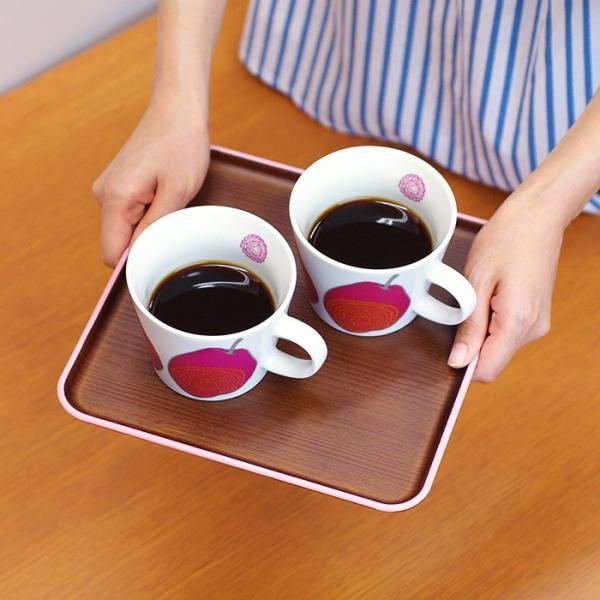 正角トレー 木目トレー 日本製 人気 北欧風 プラスチック 食器 取り皿 テーブルウェア issoecco 05