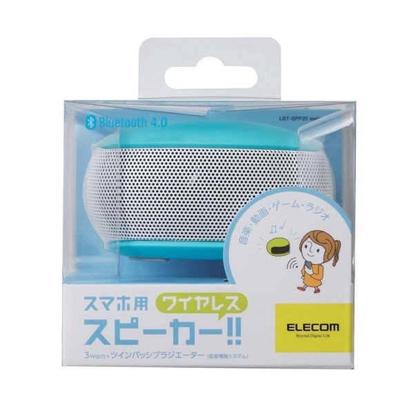 エレコム スマホ用 Bluetooth4.0 モノラルスピーカー LBT-SPP20 3色(ブラック/ブルー/ホワイト) istheme 06
