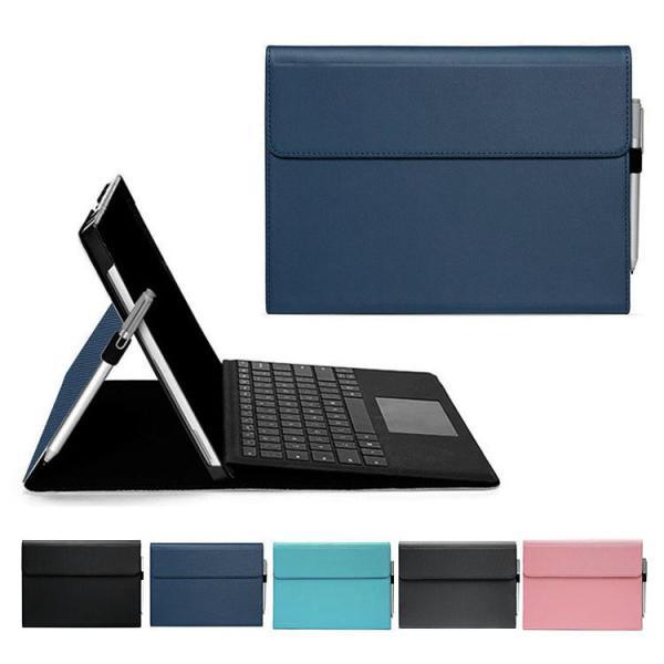 SurfaceGo2第二世代ケース/カバー手帳型上質ペン収納高級PUレザーシンプルおしゃれサーフェスGo2手帳タイプレザーケース