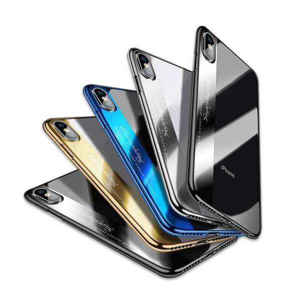 eeaed611a2 iPhone XS / iPhone X ケース クリア TPU メッキ スリム 薄型 シンプル かっこいい アイフォンXS/ ...