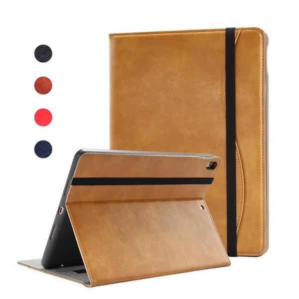 iPad mini 5 ケース 7.9インチ (2019モデル)/iPad Air 10.5インチ(2019モデル) ケース/カバー 手帳 レザー 片手持ちハンドル付き カード収納 ペン収納