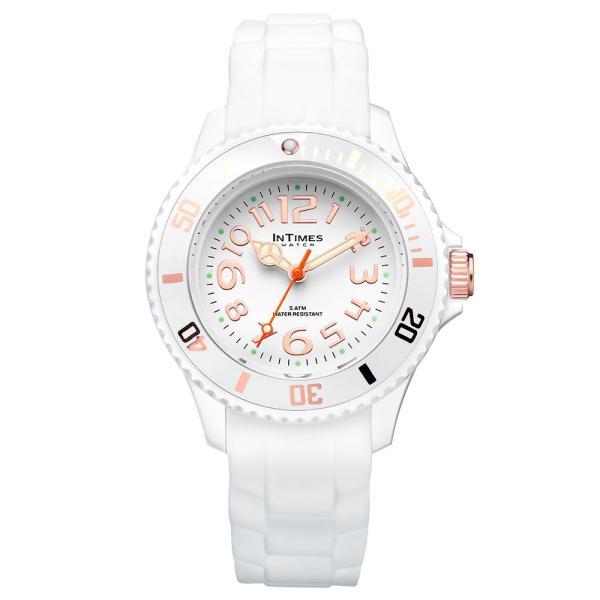 f5209cc3bc INTIMES インタイムス 軽量 防水 かわいい 36mm シリコン レディース キッズ メンズ アナログ 腕時計 子供 ペア 家族 ...