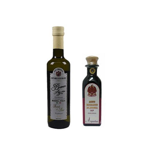 お歳暮 ギフト アチェートバルサミコ アルジェントム 250ml /ビアンコ 白バルサミコ酢 500ml 2本 セット ジャコバッツィ社