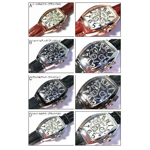 ポイント10倍 (定形外郵便配送可能/3個まで) 腕時計 メンズ 格安 ビックフェイス メンズ腕時計 クロノグラフ フランク好きに 父の日 送料無料|italico|02
