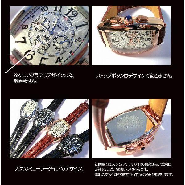 ポイント10倍 (定形外郵便配送可能/3個まで) 腕時計 メンズ 格安 ビックフェイス メンズ腕時計 クロノグラフ フランク好きに 父の日 送料無料|italico|03