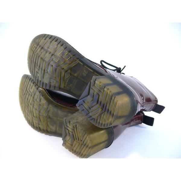 ショートブーツ 編み上げ レディース ヒール マーチン風 サイドファスナーブーツ ロック パンク ロリータ ゴスロリ エナメルブーツ レースアップ (3色)