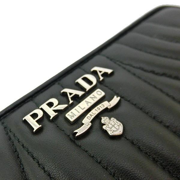 プラダ 長財布 PRADA キルティング ナッパ レザー ブラック ラウンドファスナー 黒 1ML506 2B0X F0002/NAPPA IMPUNTURE  (t812-1) italybag 05