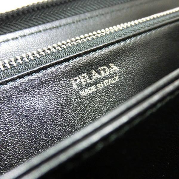 プラダ 長財布 PRADA キルティング ナッパ レザー ブラック ラウンドファスナー 黒 1ML506 2B0X F0002/NAPPA IMPUNTURE  (t812-1) italybag 06