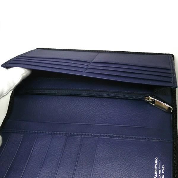 二つ折り長財布 本革 フラップ ブラックレザー 財布 メンズ ダビデアルベルタリオ DAVIDE ALBERTARIO(t807-1) 2041nb|italybag|02