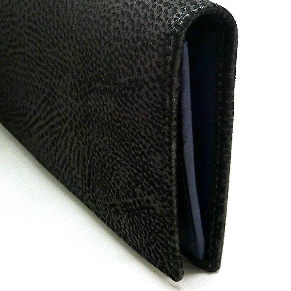 二つ折り長財布 本革 フラップ ブラックレザー 財布 メンズ ダビデアルベルタリオ DAVIDE ALBERTARIO(t807-1) 2041nb|italybag|04