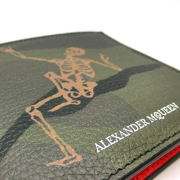 アレキサンダー マックイーン 折りたたみ財布 メンズ スカル本革レザー 二つ折り 8082545175(t812-1)Alexander McQueen 497244|italybag|02