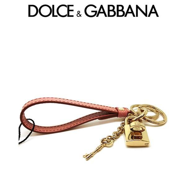 ドルガバ キーホルダー DOLCE&GABBANA キーリング メタル レザー 革 ピンク オレンジ ドルチェ&ガッバーナ bi0487-a10011-87397 (t2001) italybag 06