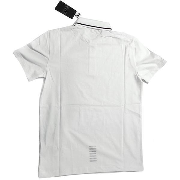 EMPORIO ARMANI EA7 エンポリオ アルマーニ エアセッテ イーエーセブン ポロシャツ 白 ホワイト メンズ トップス (t907)|italybag|02