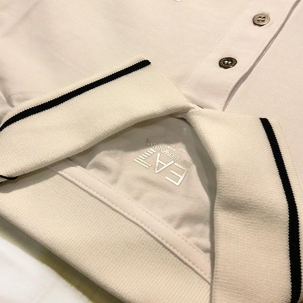 EMPORIO ARMANI EA7 エンポリオ アルマーニ エアセッテ イーエーセブン ポロシャツ 白 ホワイト メンズ トップス (t907)|italybag|03