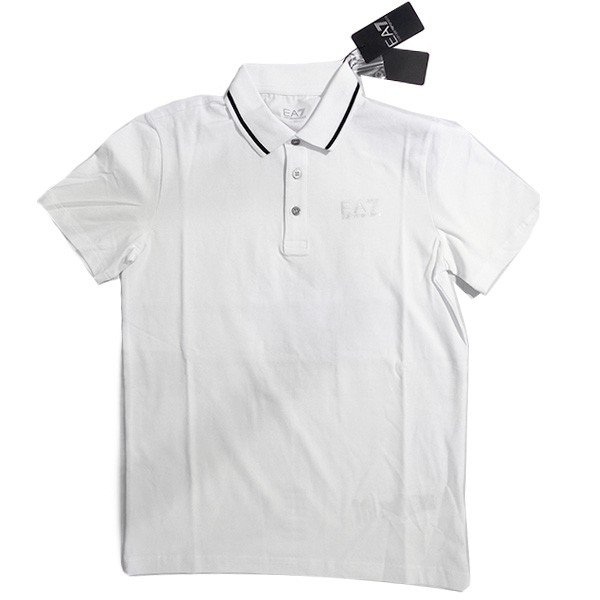 EMPORIO ARMANI EA7 エンポリオ アルマーニ エアセッテ イーエーセブン ポロシャツ 白 ホワイト メンズ トップス (t907)|italybag|10