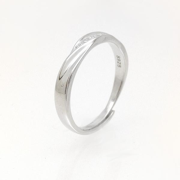 2本セット ペアリング 結婚 指輪 シルバーリング (t909)SV925 シルバー サイズ調整 chab-svrg1 プラチナメッキ|italybag|02