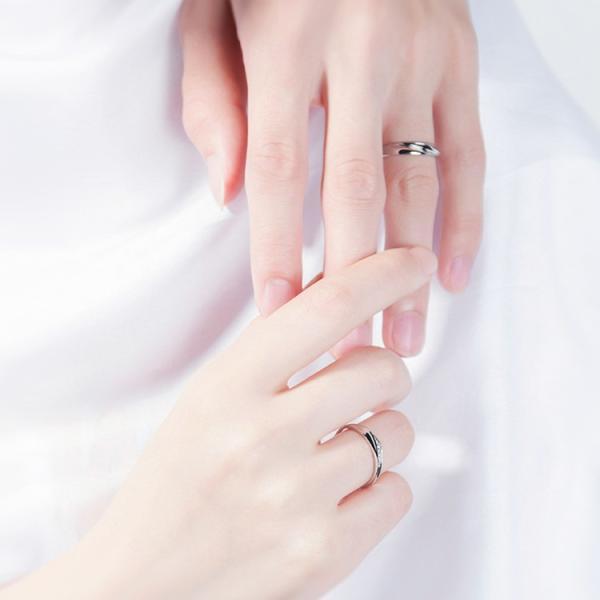 2本セット ペアリング 結婚 指輪 シルバーリング (t909)SV925 シルバー サイズ調整 chab-svrg1 プラチナメッキ|italybag|11