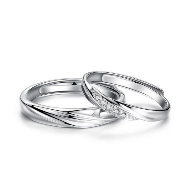 2本セット ペアリング 結婚 指輪 シルバーリング (t909)SV925 シルバー サイズ調整 chab-svrg1 プラチナメッキ|italybag|12