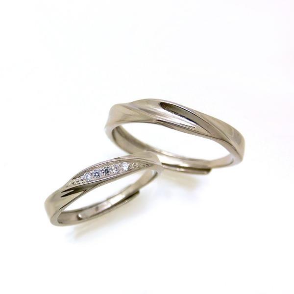 2本セット ペアリング 結婚 指輪 シルバーリング (t909)SV925 シルバー サイズ調整 chab-svrg1 プラチナメッキ|italybag|13