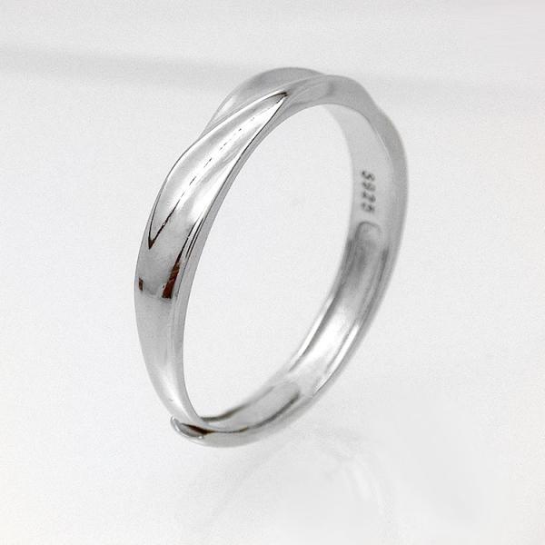 2本セット ペアリング 結婚 指輪 シルバーリング (t909)SV925 シルバー サイズ調整 chab-svrg1 プラチナメッキ|italybag|04