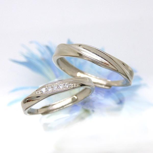 2本セット ペアリング 結婚 指輪 シルバーリング (t909)SV925 シルバー サイズ調整 chab-svrg1 プラチナメッキ|italybag|05