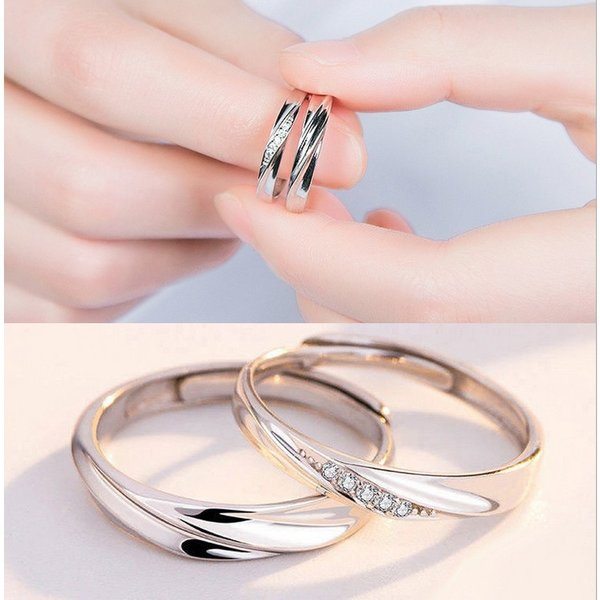 2本セット ペアリング 結婚 指輪 シルバーリング (t909)SV925 シルバー サイズ調整 chab-svrg1 プラチナメッキ|italybag|10