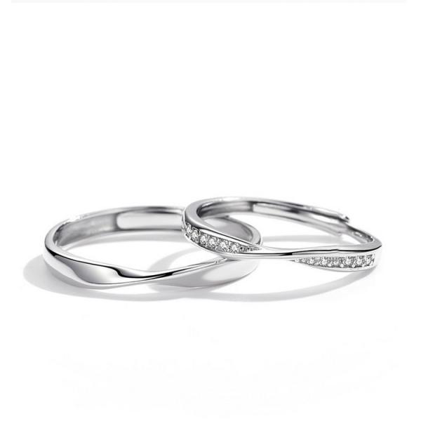 2本セット ペアリング 結婚 指輪 シルバーリング (t909)SV925 シルバー サイズ調整 chab-svrg2 italybag