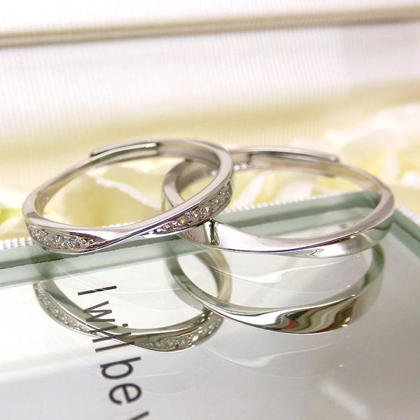 2本セット ペアリング 結婚 指輪 シルバーリング (t909)SV925 シルバー サイズ調整 chab-svrg2 italybag 07