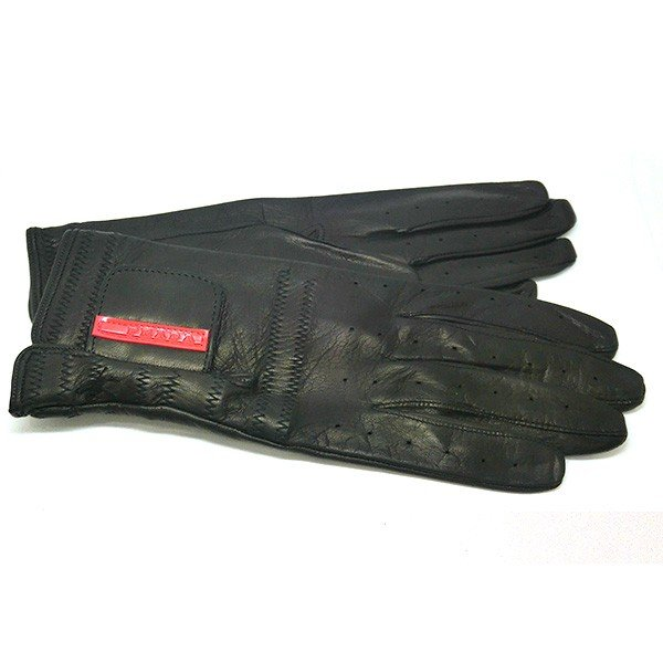 プラダ PRADA 手袋 グローブ prg468 nero 本革 レザー ブラック 黒 ブランド小物 8032711444585 (t807) グラブ M L|italybag