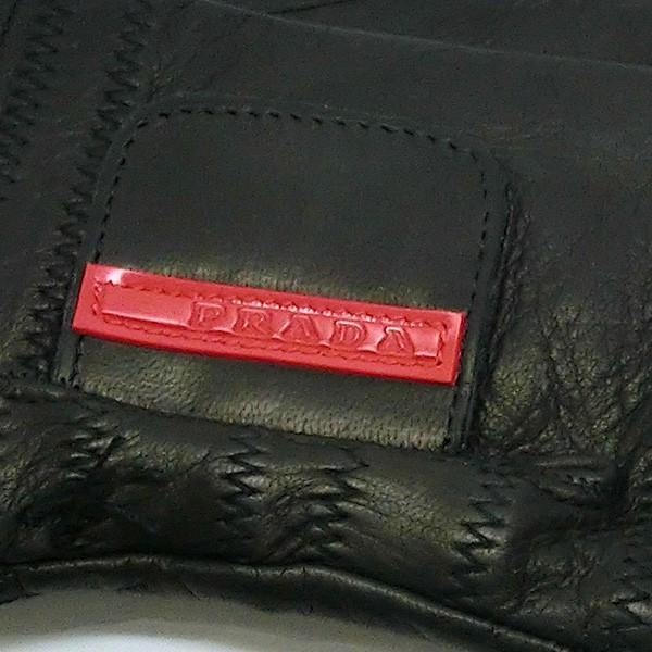 プラダ PRADA 手袋 グローブ prg468 nero 本革 レザー ブラック 黒 ブランド小物 8032711444585 (t807) グラブ M L|italybag|04