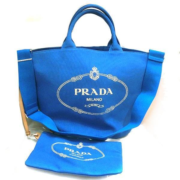 PRADA CANAPA プラダ カナパ 2way トートバッグ ポーチ付き レディース 1bg163(t805) 8050533658560 blue AZZURRO