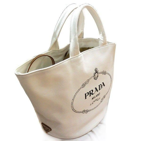 PRADA CANAPA プラダ カナパ トートバッグ 2wayバッグ ポーチ付き レディース  1bg163(t805) 805053304179 BIANCO |italybag|07