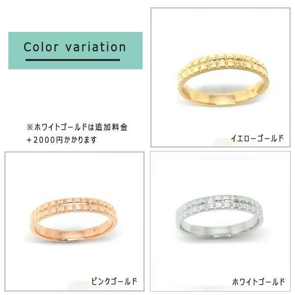 K10PG WG  YG  リング 指輪 ファッションリング ペアリング 地金 10金  yk-110|italybag|05