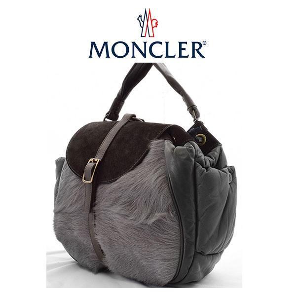 モンクレール バッグ MONCLER  秋冬 ファーバック ハンドバッグ GOAT かばん 鞄 【t610】