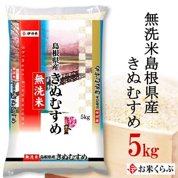 島根県産 きぬむすめ 無洗米 5kg 送料無料 白米 島根きぬむすめ 令和2年産 無洗米 島根県産きぬむすめ 熨斗承ります